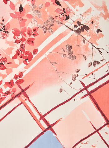 Watercolour Print Lightweight Scarf, Pink,  scarf, lightweight, floral, spring summer 2021