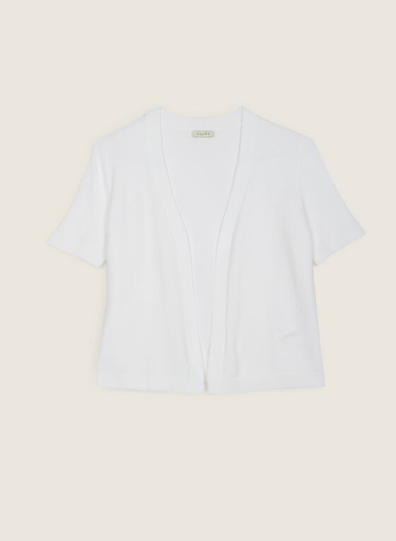 Open Front Short Sleeve Bolero, Off White
