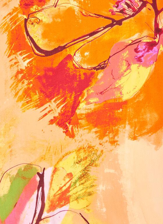 Foulard oblong léger fleuri, Orange
