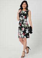 Floral Print Sleeveless Dress, Black, hi-res
