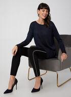 Long Sleeve Lurex Sweater, Blue, hi-res
