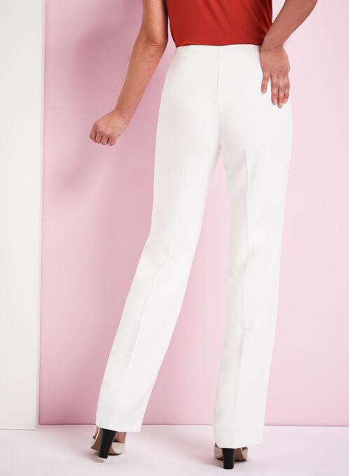 Pantalon coupe Moderne à jambe droite , Blanc cassé, hi-res