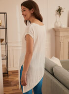 Short Sleeve Asymmetric Top, White