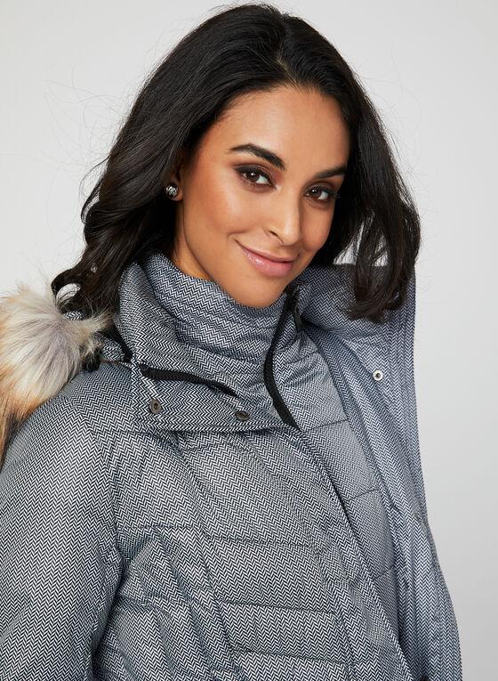 Chillax - Chevron Print Coat, Grey, hi-res