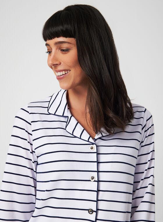Comfort & Co. - Chemise de nuit à manches longues, Bleu