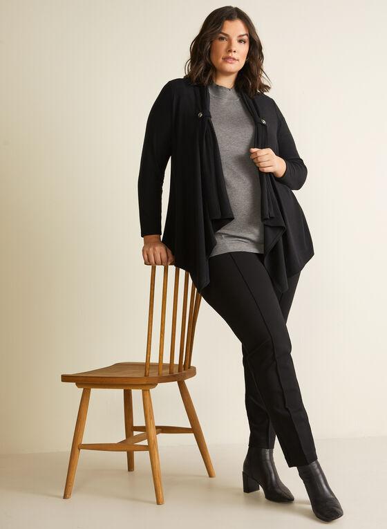 Veste ouverte en tricot, Noir
