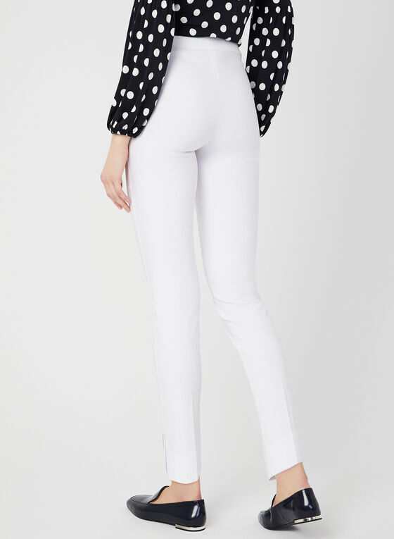 City Fit Slim Leg Pants, White, hi-res