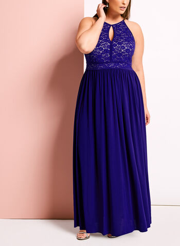 Glitter Lace Keyhole Dress, , hi-res
