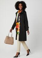 Anne Klein - Notch Collar Trench Coat, Black, hi-res