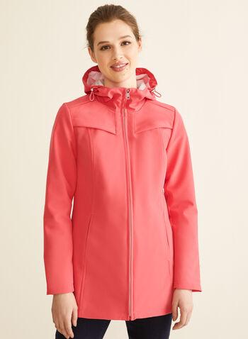 Novelti - Manteau zippé à capuchon, Orange,  manteau, demi-saison, capuchon, doublure douce, zip, poches, printemps été 2020