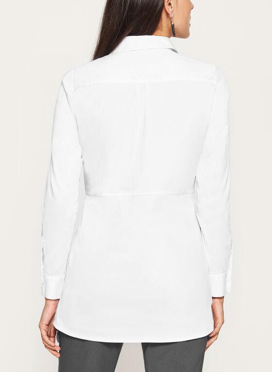 Long Sleeve Button Down Shirt, White, hi-res