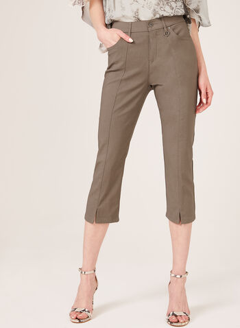 Simon Chang –Signature Fit Straight Leg Capri, Brown, hi-res