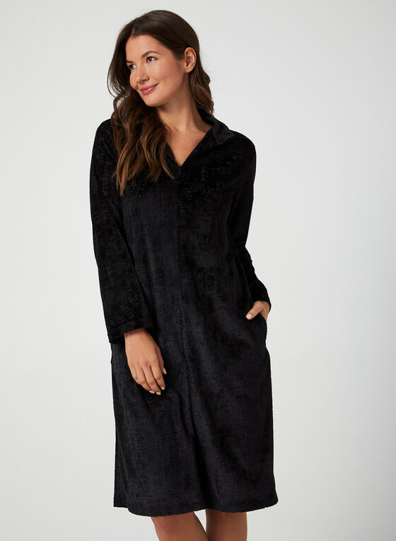 Hamilton - Velour Nightgown, Black
