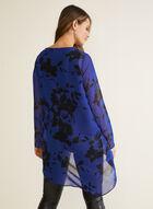 Compli K - Tunique florale en mousseline, Bleu