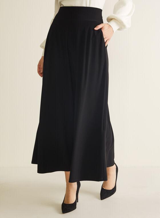 Pull-On Maxi Skirt, Black