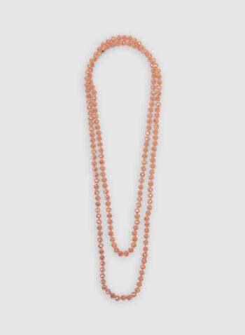 Collier de billes à deux rangs, Orange, hi-res,  printemps 2019