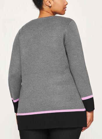 Cardigan en tricot contrastant avec poches, , hi-res