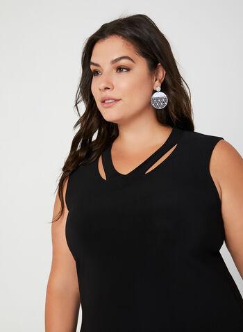 Joseph Ribkoff - Sleeveless Jersey Top, Black, hi-res,  fall 2019, winter 2019, sleeveless, cutouts, jersey