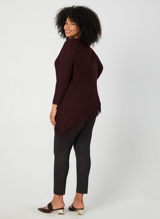 Asymmetric Fringe Sweater, Purple