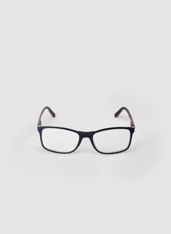 Rectangular Shape Eyeglasses, Purple