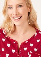 Bellina - Ensemble pyjama à motif chat, Rose, hi-res