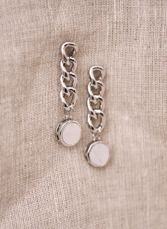 Tiered Pearl Detail Earrings, White