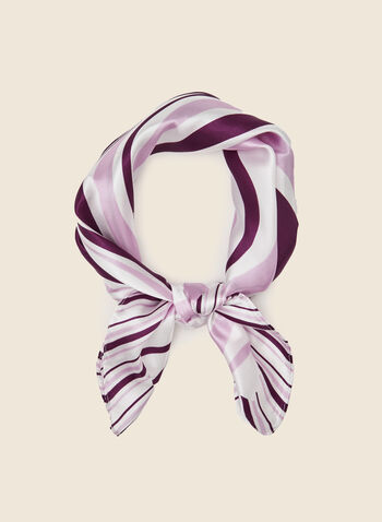 Foulard à motif abstrait , Violet,  foulard, carré, abstrait, rayures, printemps été 2021