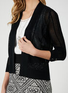 Lace Up Detail Cardigan, Black