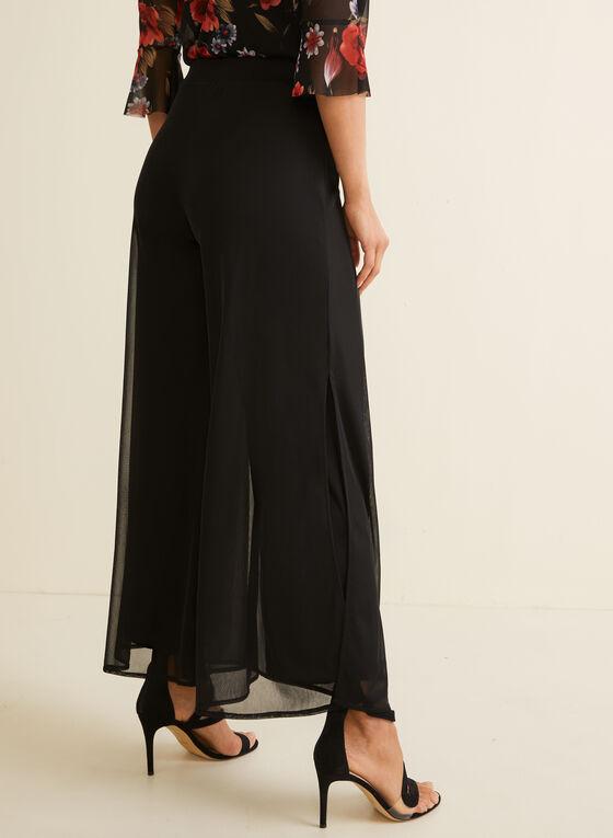 Modern Fit Wide Leg Mesh Pants, Black, hi-res