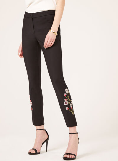 Modern Fit Straight Leg Ankle Pants