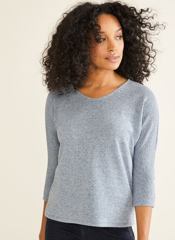 Dolman Sleeve Top, Blue