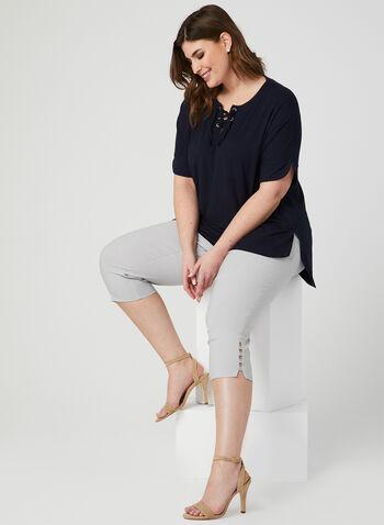 Modern Fit Capri Pants, Grey,