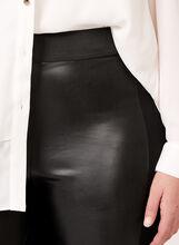 Legging bi-matière en similicuir, Noir, hi-res