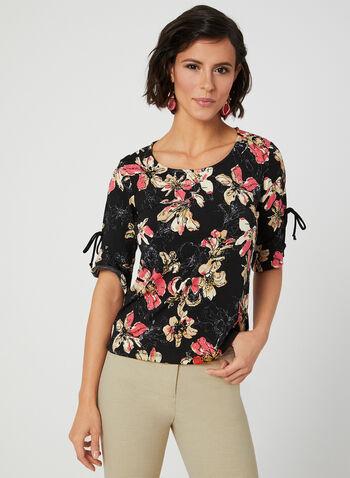 Floral Print Top, Multi,  Canada, floral print, elbow sleeves, spring 2019