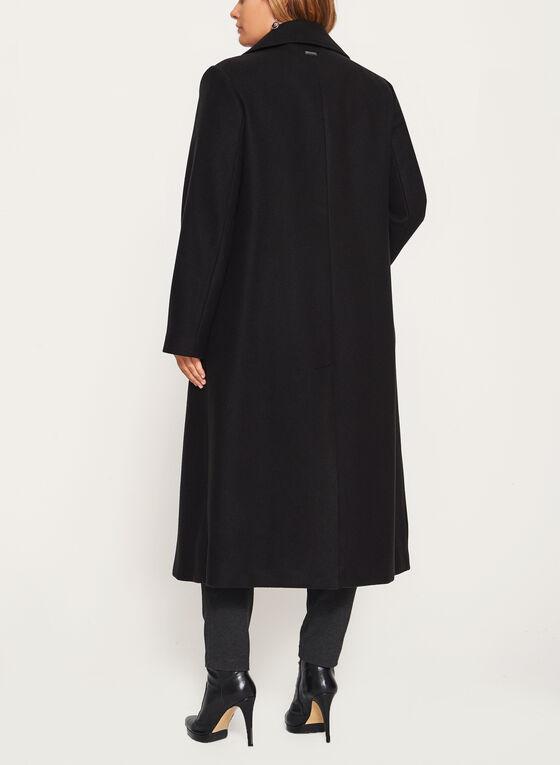Novelti - Manteau tailleur aspect laine à double bouton, Noir, hi-res
