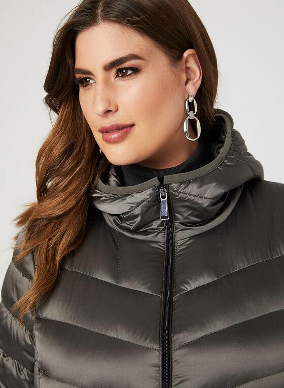 BCBGeneration - Hooded Packable Down Coat, Grey, hi-res