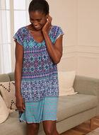 Paisley Print Nightgown, Blue