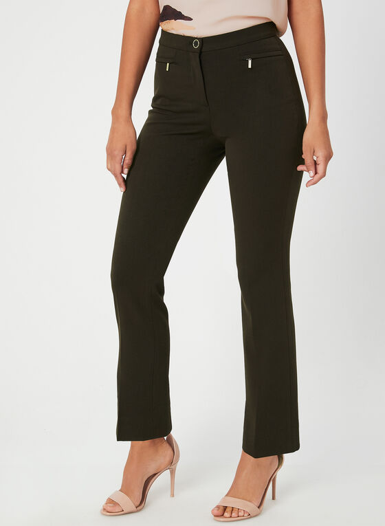 Signature Fit Straight Leg Pants, Brown