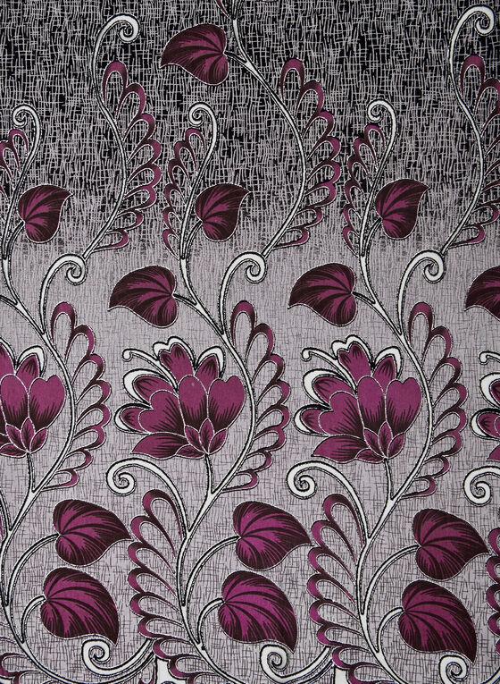 Floral Print Lightweight Scarf, Purple