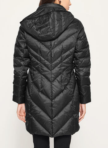Quilted Down Filled Coat, Black, hi-res