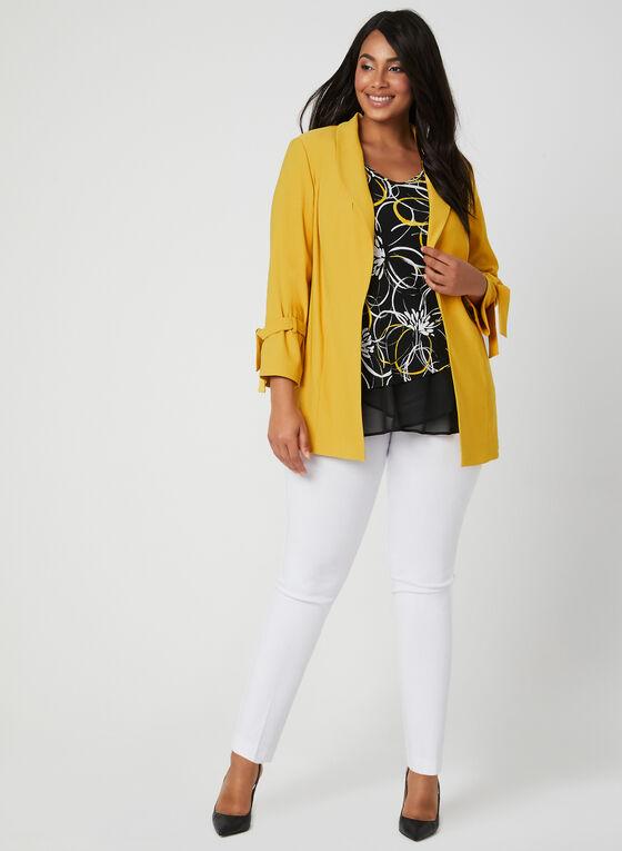 ¾ Sleeve Tie Detail Jacket, Yellow, hi-res