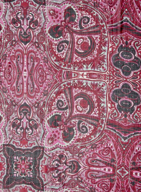 Ornamental Print Scarf, Red