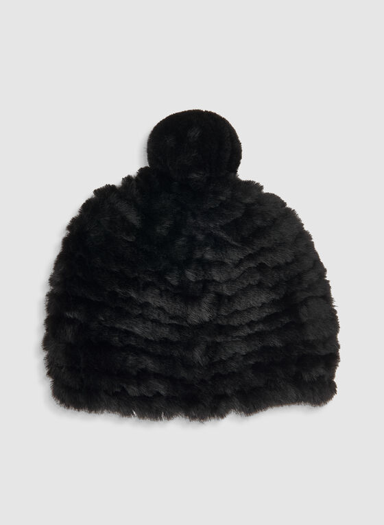 Fake Fur Hat, Black