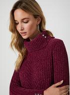 Pull en tricot chenille à col roulé, Violet