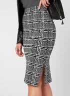 Plaid Print Skirt, Black, hi-res
