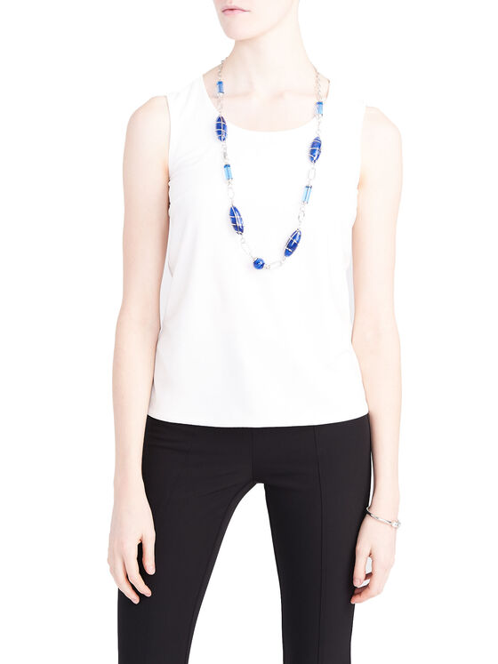 Scoop Neck Basic Tank, Off White, hi-res