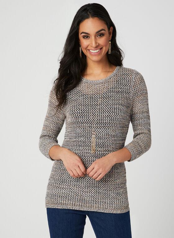Alison Sheri - Pull en tricot crochet, Multi