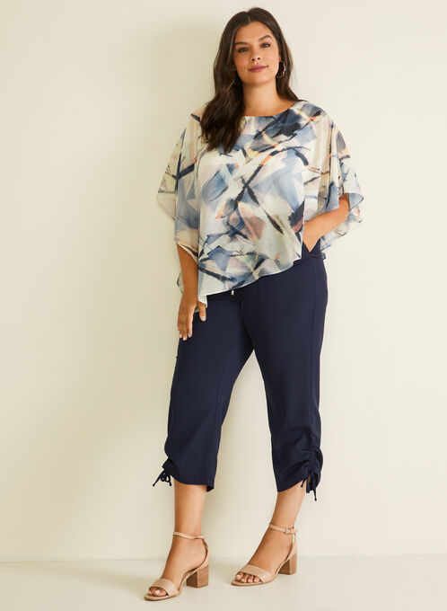 Pull-On Cargo Capris, Blue
