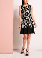 Robe trapèze à motif géométrique , Noir, hi-res