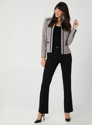 Bouclé Knit Short Jacket, Multi,  short jacket